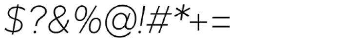 Mirai Light Italic Font OTHER CHARS