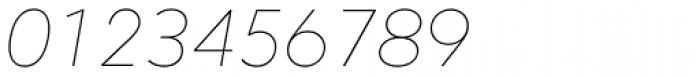 Mirai Thin Italic Font OTHER CHARS