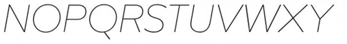 Mirai Thin Italic Font UPPERCASE