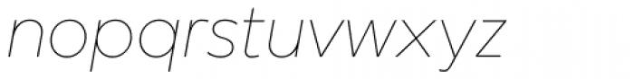 Mirai Thin Italic Font LOWERCASE