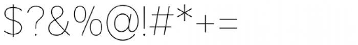 Mirai Thin Font OTHER CHARS