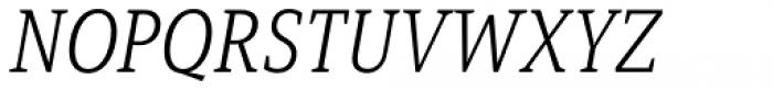 Mirantz Condensed Thin Italic Font UPPERCASE