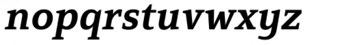 Mirantz Extended Ex Bold Italic Font LOWERCASE