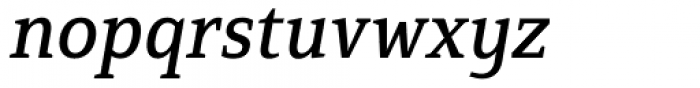 Mirantz Norm Medium Italic Font LOWERCASE