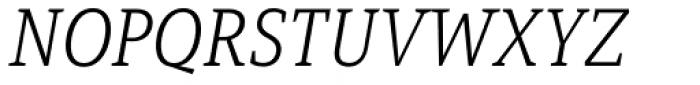Mirantz Norm Thin Italic Font UPPERCASE