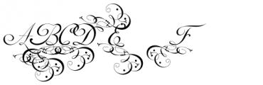 Mirella Initials Ornamentals Font UPPERCASE