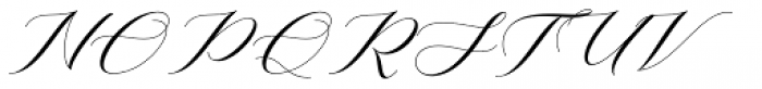Mishora Script Regular Font UPPERCASE