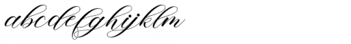 Mishora Script Regular Font LOWERCASE