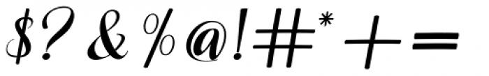 Miskiani Script Regular Font OTHER CHARS