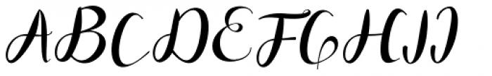 Miskiani Script Regular Font UPPERCASE