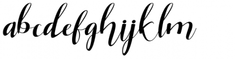 Miskiani Script Regular Font LOWERCASE