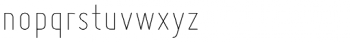 Miso Skinny Font LOWERCASE
