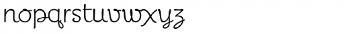 Miss Demeanor Font LOWERCASE