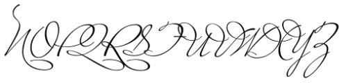 Miss Le Gatees Font UPPERCASE