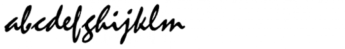 Mistral Font LOWERCASE