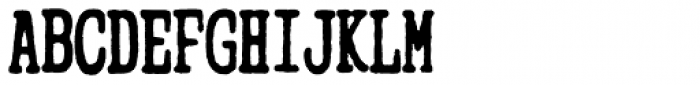Mitigate Typewriter Bold Font UPPERCASE