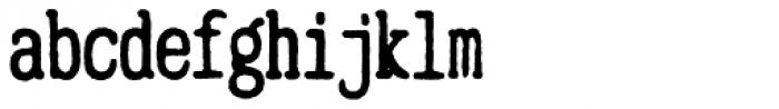 Mitigate Typewriter Bold Font LOWERCASE