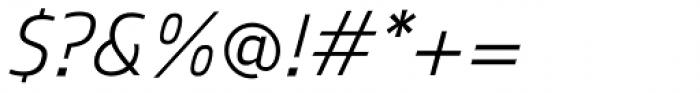 Mitram Medium Italic Font OTHER CHARS