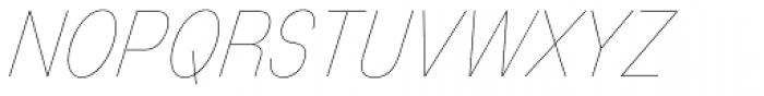 Mixolydian UltraLight Italic Font UPPERCASE