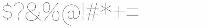 Mixolydian UltraLight Font OTHER CHARS