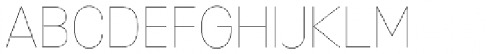 Mixolydian UltraLight Font UPPERCASE