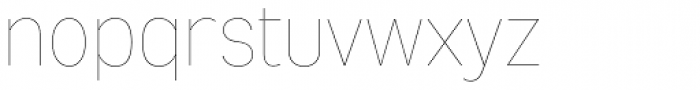 Mixolydian UltraLight Font LOWERCASE