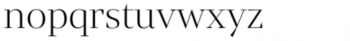 Mixta Didone Alt Light Font LOWERCASE