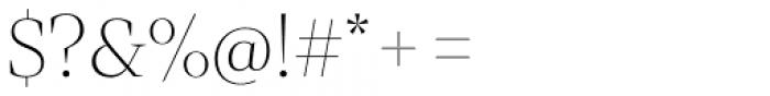 Mixta Didone Alt Ultra Light Font OTHER CHARS