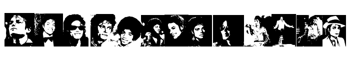 MJ The King of Pop Font UPPERCASE