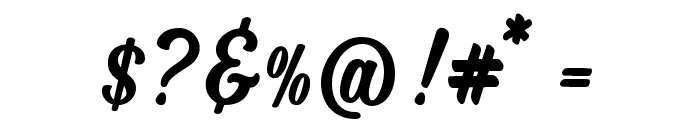 MJZhafiraDemo Font OTHER CHARS