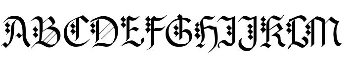 MKBrokenTypes Font UPPERCASE