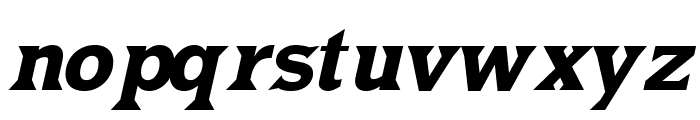 MKLatin-BoldOblique Font LOWERCASE