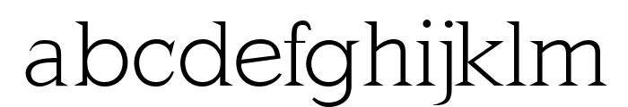 MKLatinLight Font LOWERCASE