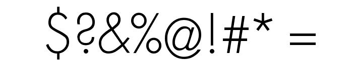 MKSansserifLightTallX Font OTHER CHARS