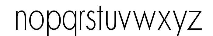 MKSansserifLightTallX Font LOWERCASE