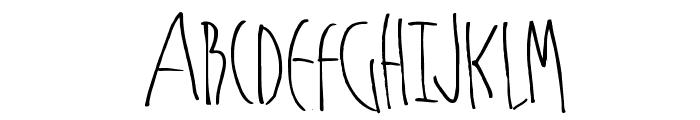 MKSchmalhands Font UPPERCASE