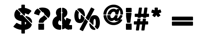 MKStencilsansBlack Font OTHER CHARS