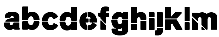 MKStencilsansBlack Font LOWERCASE