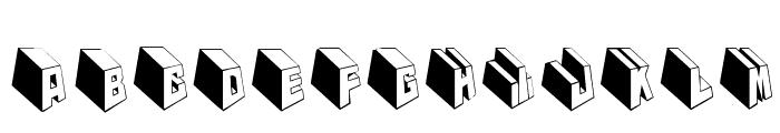 MKTypobricksRough Font UPPERCASE