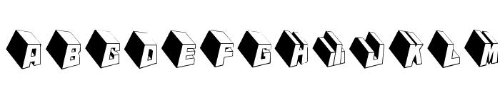 MKTypobricksRough Font LOWERCASE