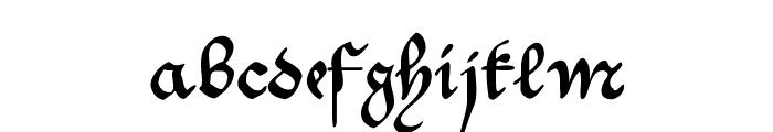 MKantzley Font LOWERCASE