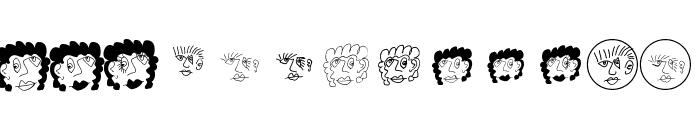 MKartoonHeads Font UPPERCASE