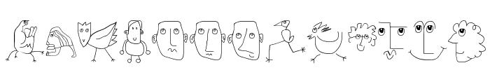 MKartoons Font UPPERCASE