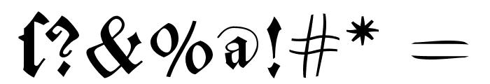 MKaslonTextura Font OTHER CHARS