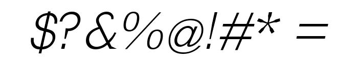 MkLatinLight-Oblique Font OTHER CHARS