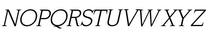MkLatinLight-Oblique Font UPPERCASE