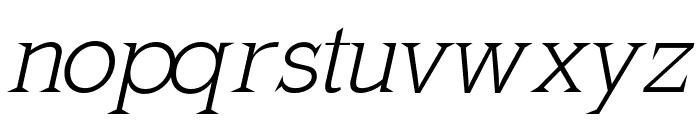 MkLatinLight-Oblique Font LOWERCASE