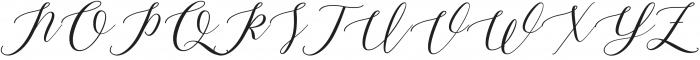 ML Fortune Slant otf (400) Font UPPERCASE
