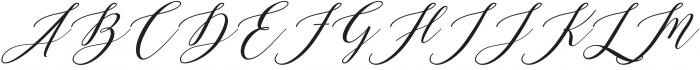 ML Fortune Super Slant otf (400) Font UPPERCASE