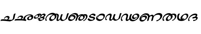 ML-TTJaya BoldItalic Font UPPERCASE